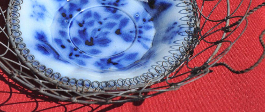 Schale mit Flow-Blue-Dekoration Museum Filia Lesbos Μουσείο Φιλιά Λέσβου
