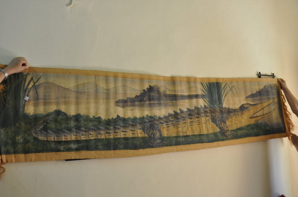 Museum Filia Wandbehang Krokodil Kunst aus Madagaskar